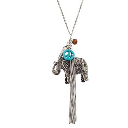 lux-zubehor-tribal-elefant-peace-sign-fransen-perlen-statement-charm-halskette