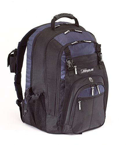 Targus Xl Backpack Designed For 17-Inch Notebooks, Black With Blue Accents (Txl617)
