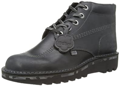 Kickers Mens Kick Hi Cam G Boots 112613 Black/Grey 7 UK, 41 EU