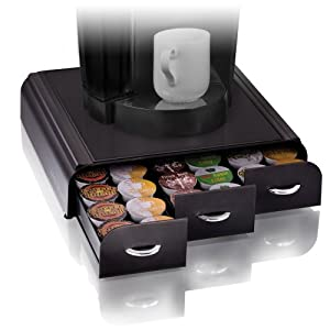 Mind Reader 'Anchor' Triple Drawer K-Cup Dolce Gusto, CBTL, Single Serve Coffee Pod Holder