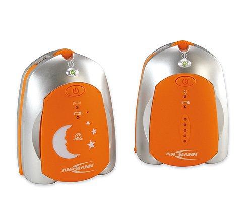 ANSMANN 5070073 Babyphone Barcelona strahlungsarm zur optimalen Funkübertragung Sender mit Nachlicht