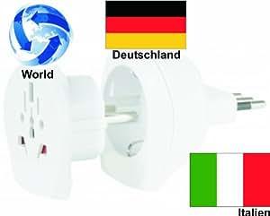 design reiseadapter welt adapter auf italien deutschland. Black Bedroom Furniture Sets. Home Design Ideas