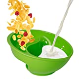 Obol - The Original Never Soggy Cereal Bowl / With The Spiral Slide Design 'n Grip - Lg Green by Obol