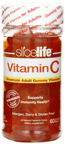 Slice Of Life Vitamin C+ Pomegranate, 60-Count Gummy Slices