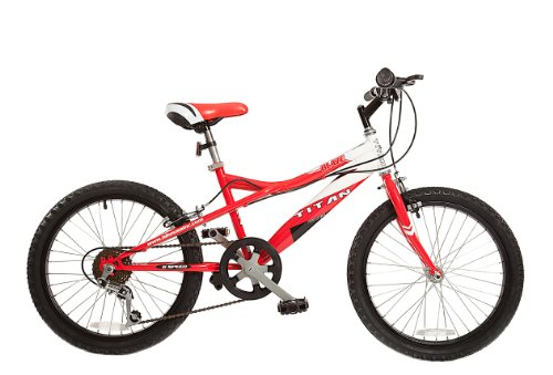 Titan Blaze 20-inch BMX with 6-speeds, Red and White