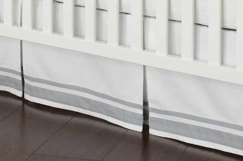 Safe Sleep Grey Crib Skirt front-899282