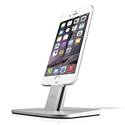 Twelve South Hirise Adjustable Desktop Stand for Iphone 6/6 Plus/5/5s/ipad Min | Irequires Apple Lightning Cable(silver)