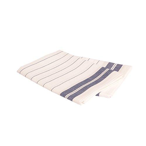 Vaitkute 216011 - Set di due asciugapiatti Fischgrat in misto lino 50% lino e 50% cotone lavabile a 60º 47 x 70 cm colore: blu