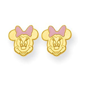 inverness piercing 14k gold minnie mouse