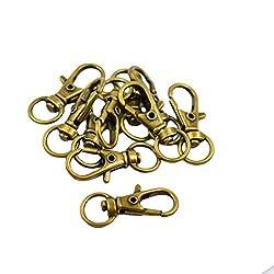 Generic Swivel Trigger Snap Hooks Keychain Key Ring 32x12mm Vintage Bronze Pack of 10