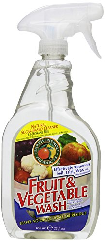 Earth Friendly Products Fruit and Vegetable Wash, 22-Ounce/650ml Spray Bottle