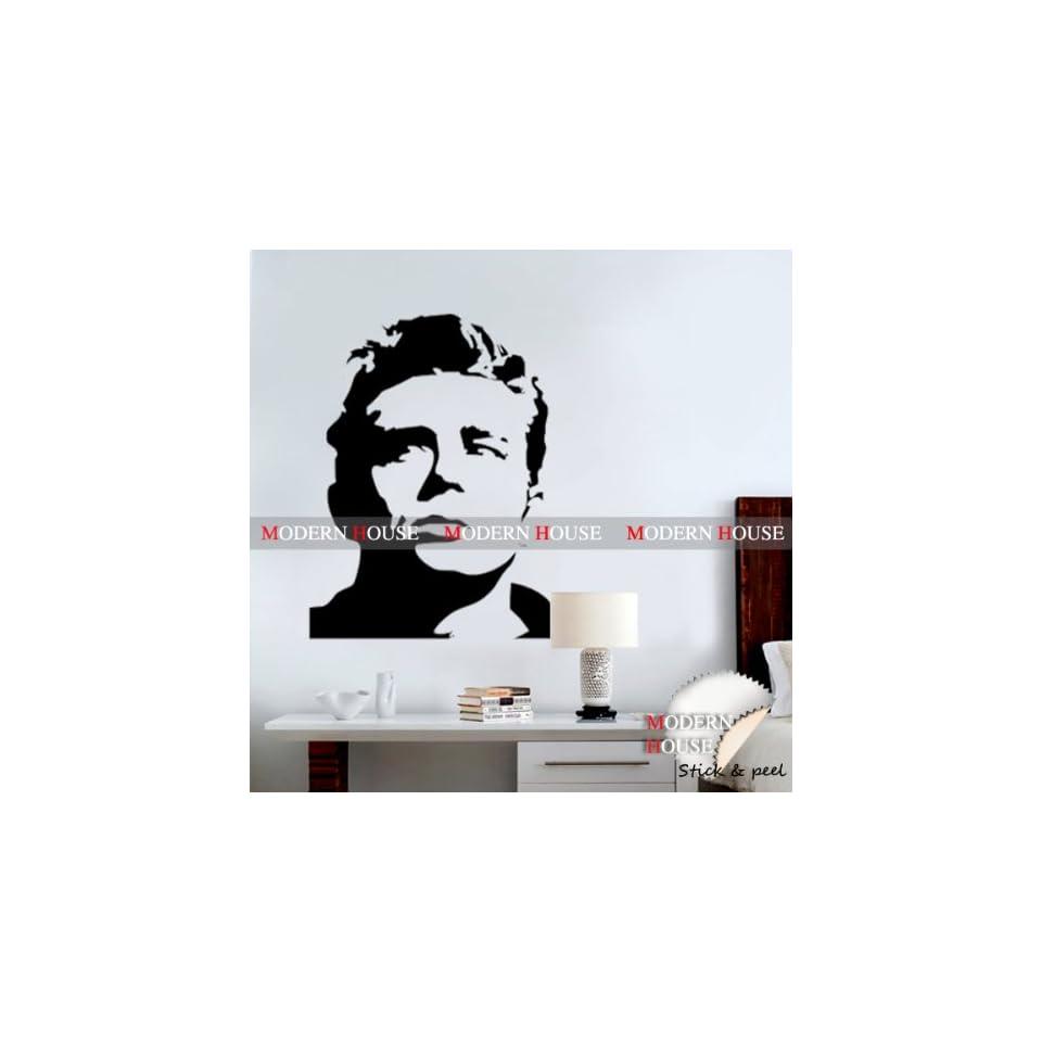 James Dean Giant Portrait removable Vinyl Mural Art Wall Sticker Decal