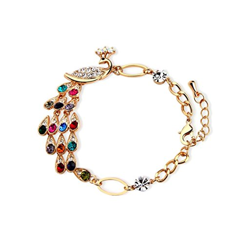 Time Pawnshop Colorful Peacock Noble Elegant Lady Bracelet (Vogue Tires 15 compare prices)