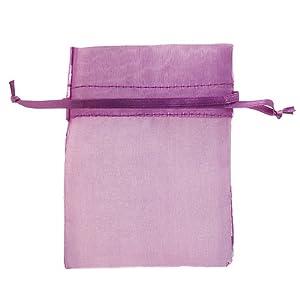 29x Purple Wedding Organza Favor Gift Bags 3x4 inch Wedding Organza Bags