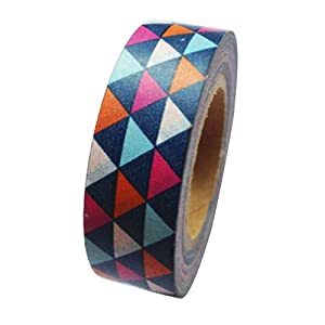 Dress My Cupcake DMC41WT551 Washi Decorative Tape for Gifts and Favors, Vintage Pennant Banners