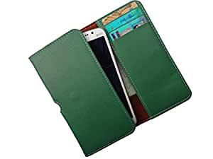 ATV PU Leather Persian Green Pouch Case Flip Cover For Samsung Galaxy C5
