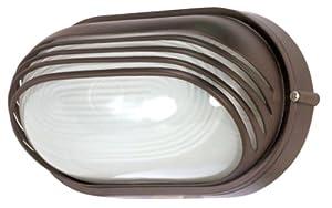 Nuvo Lighting 60/523 Bulkhead 1-Light Oval Hood 60W A19, Architectual Bronze