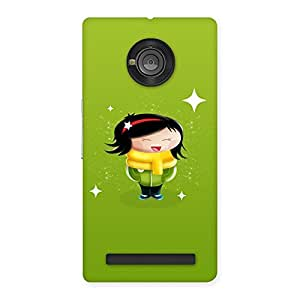 Special Laughing Cute Girl Print Back Case Cover for Yu Yunique