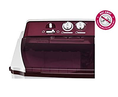 LG P1515R3SA Semi-automatic Top-loading Washing Machine (9.5 Kg, Burgundy)