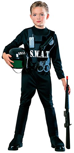 S.W.A.T. Team Police Cop Kids Costume Size Large (8-10)