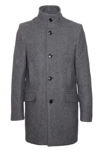 Selected Hommes - Mew Mosto Grey Tweed Mens Mid Length Tweed Coat X Large