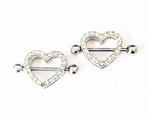 adecco-llc-2pcs-nipple-rings-heart-shape-nickel-free-body-piercing-jewelry-14g-surgical-steel-a-pair