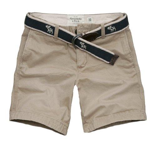 Abercrombie & Fitch Mens Basin Mountain Shorts Khaki