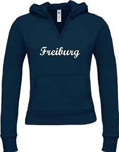 Shirtstown Lady Kapuzensweatshirt Deine Stadt City Style Freiburg Kult Geschenkidee Größen XS-XXL