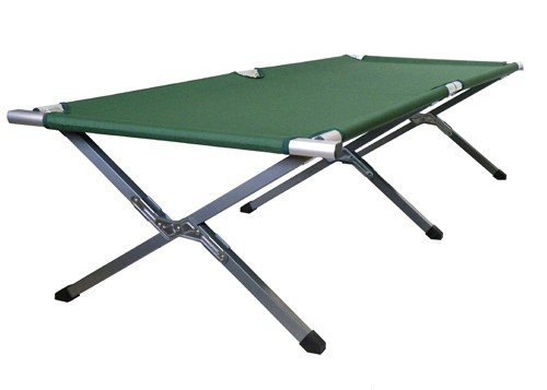 Camping Bed Folding Adventure Military Cot Green front-129339