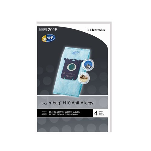 Genuine Electrolux Anti-Allergy s-bag EL202F - 4 bags (Vacuum Bags S Bags compare prices)
