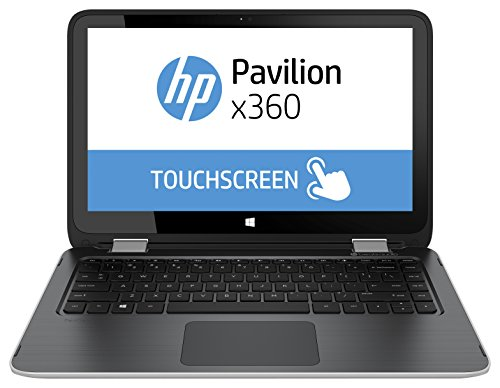 HP Pavilion x360 13-a150ng 33,8 cm (13,3 Zoll) Convertible Notebook (AMD Quad Core-A8 6410, 2GHz, 4GB RAM, 500GB SSHD, Radeon R5 Grafikkarte, Win 8, Touchscreen) silber