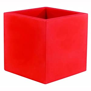 pot de fleur cubo 40 cm rouge jardin. Black Bedroom Furniture Sets. Home Design Ideas