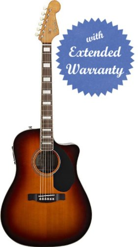 Fender Kingman Sce Dreadnought Cutaway Acoustic-Electric Guitar - 3-Tone Sunburst