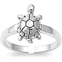 Gandhi Jewellers Sterling Silver Single Piece Turtle Tortoise Toe Ring