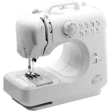 Michley Lil' Sew & Sew 8-Stitch Desktop White Sewing Machine,Double-thread capacity,Includes needle, threader and AC adapter (Michley Lil Sew And Sew Bobbins compare prices)