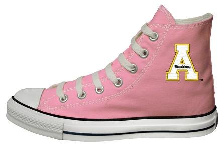 Buy Converse Chuck Taylor All Star Hi Top Pink Appalachian State University Logo Canvas