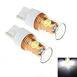 See 2Pcs T20 8W 1xCree + 4xIntegrated LED 800LM 6000K White Light LED for Car Turn Steering / Reversing Lamp (DC 12-24V) Details