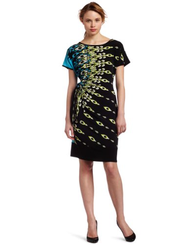 Tiana B Womens The Tribal Faux Wrap Dress