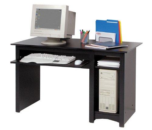 Prepac Sonoma Small Wood laminate Computer Desk in Black