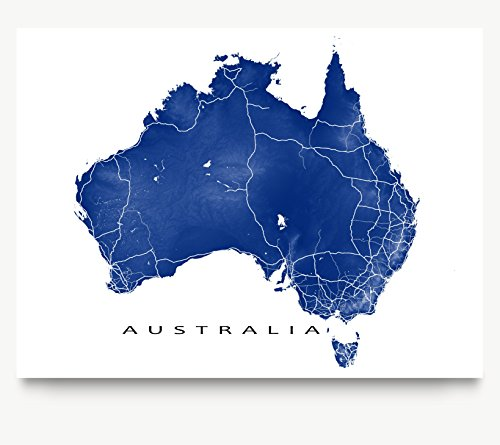 australia-map-print-country-landscape-art-uluru-sydney-melbourne-perth