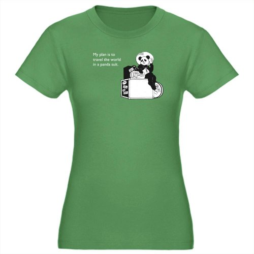 Panda Suit Humor Women's Fitted T-Shirt dark