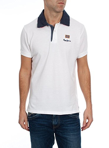 Polo Pepe Jeans Esteban Blanco M Bianco