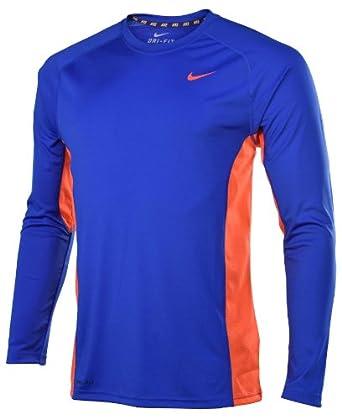 Nike Mens Dri-Fit Speed Legend Long Sleeve Shirt-Blue Orange by Nike