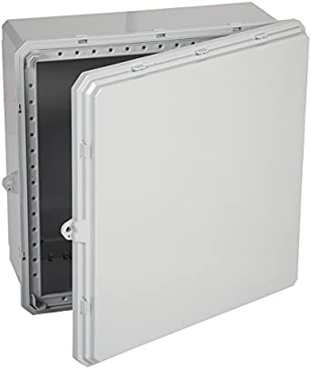 "Integra H181610S Premium Line Enclosure, Four Screws, Opaque Cover, Mounting Feet, 18"" Height, 16"" Width, 10"" Depth"