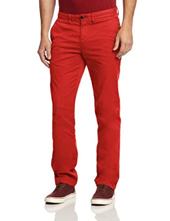 Hilfiger Denim - francky - pantalon - droit - homme - rouge (molten lava) - w32/l34