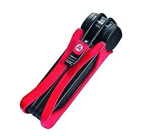 Trelock Faltschloss Trigo FS 300/85 mit Kunststoffhalter, Rot, 8002464