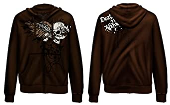 BLACK INK AIRBORNE DEATH FROM ABOVE ZIPPER HOODIE Size XL