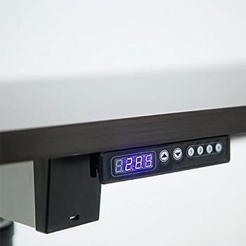 ApexDesk Vortex Series 6-button Electric Height Adjustable Sit to Stand Corner Desk (Espresso Top, Right Return)