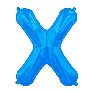 Amazoncom blue letter x 16 inch foil balloon health for Foil letter balloons amazon