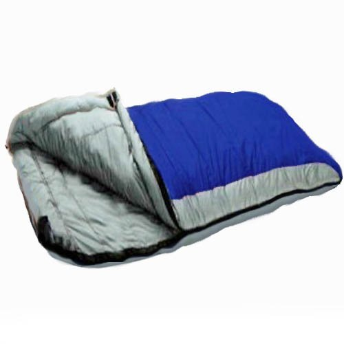 Redstone Deluxe Double Sleeping Bag - Splits into 2 Singles - XL Size - 210cm x 170cm - 2 Layers of Fill - Season 3